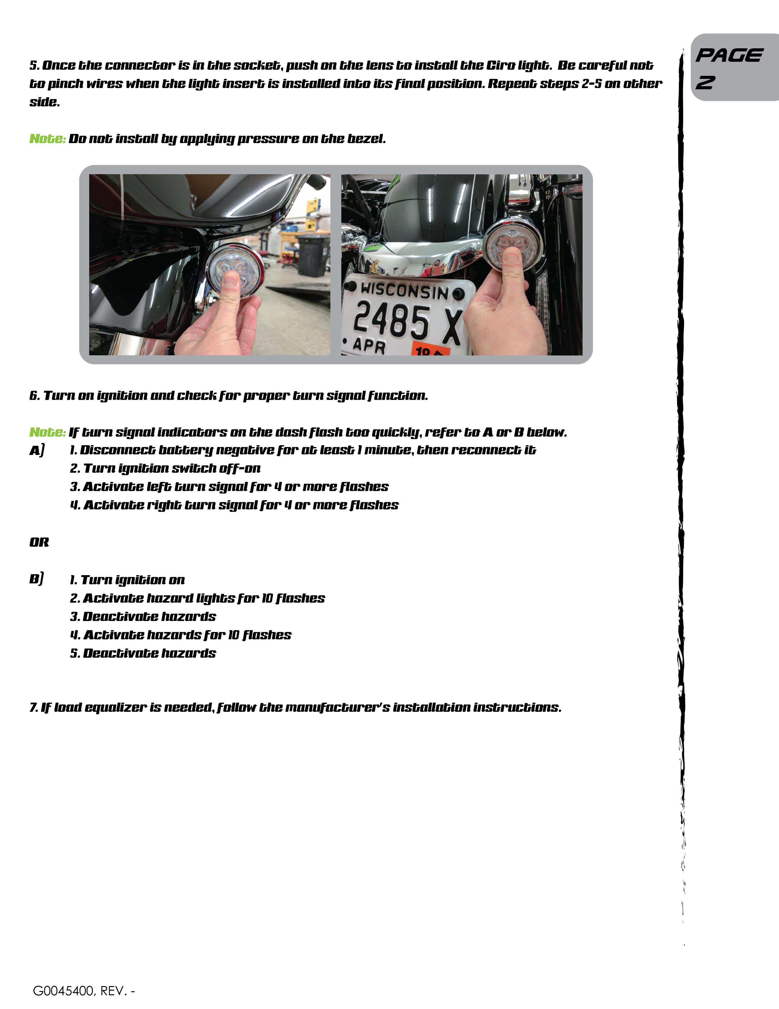 Custom Dynamics Signal Stabilizer Installation