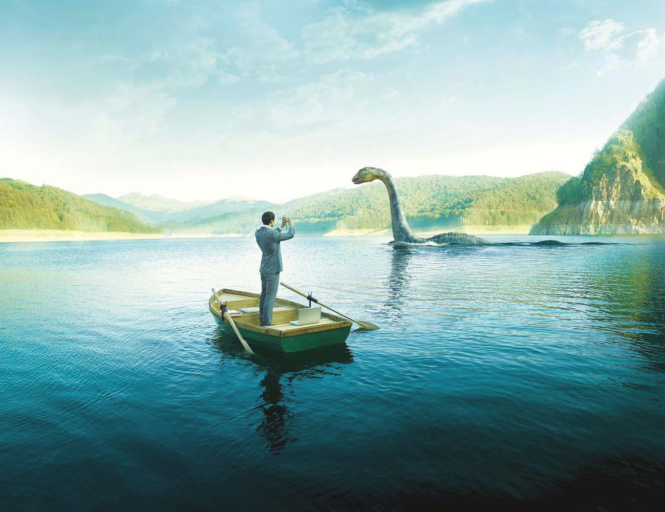 Nessie at the Loch