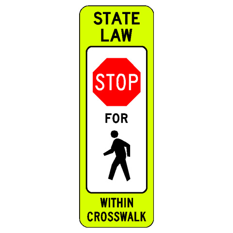crosswalk stop sign