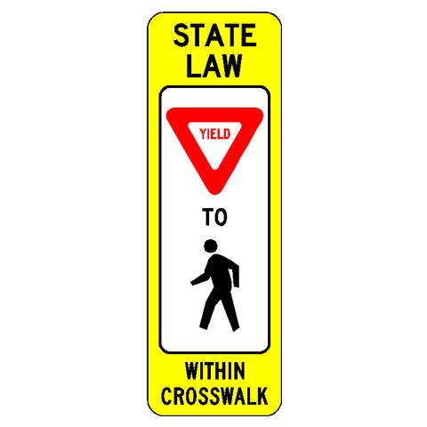Crosswalk Sign – Yield for Pedestrians