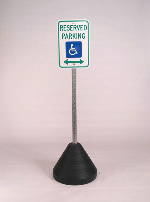 Sign Base with Square Post Hole | RubberForm Products
