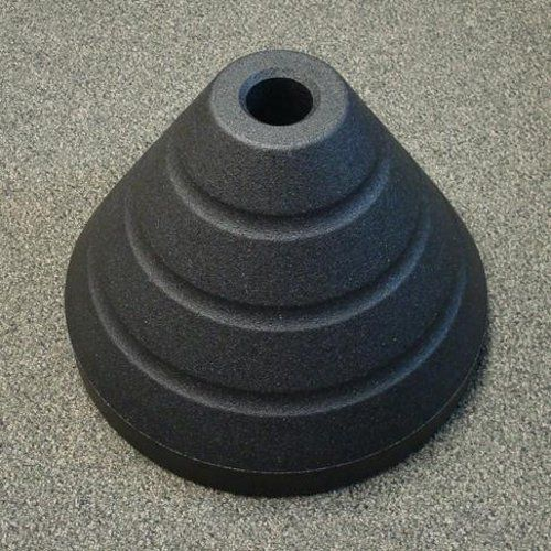 Sign Base with Round Post Hole | RubberForm Products