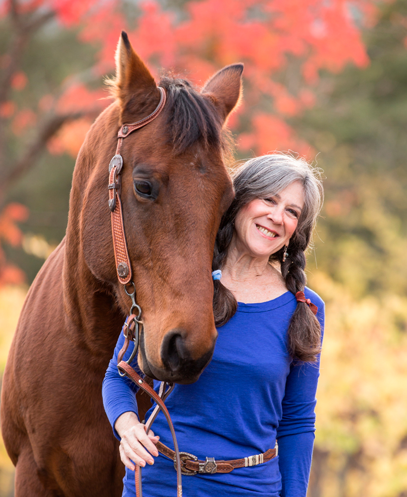 Julie Atwood Founder of Halter with Horse Image