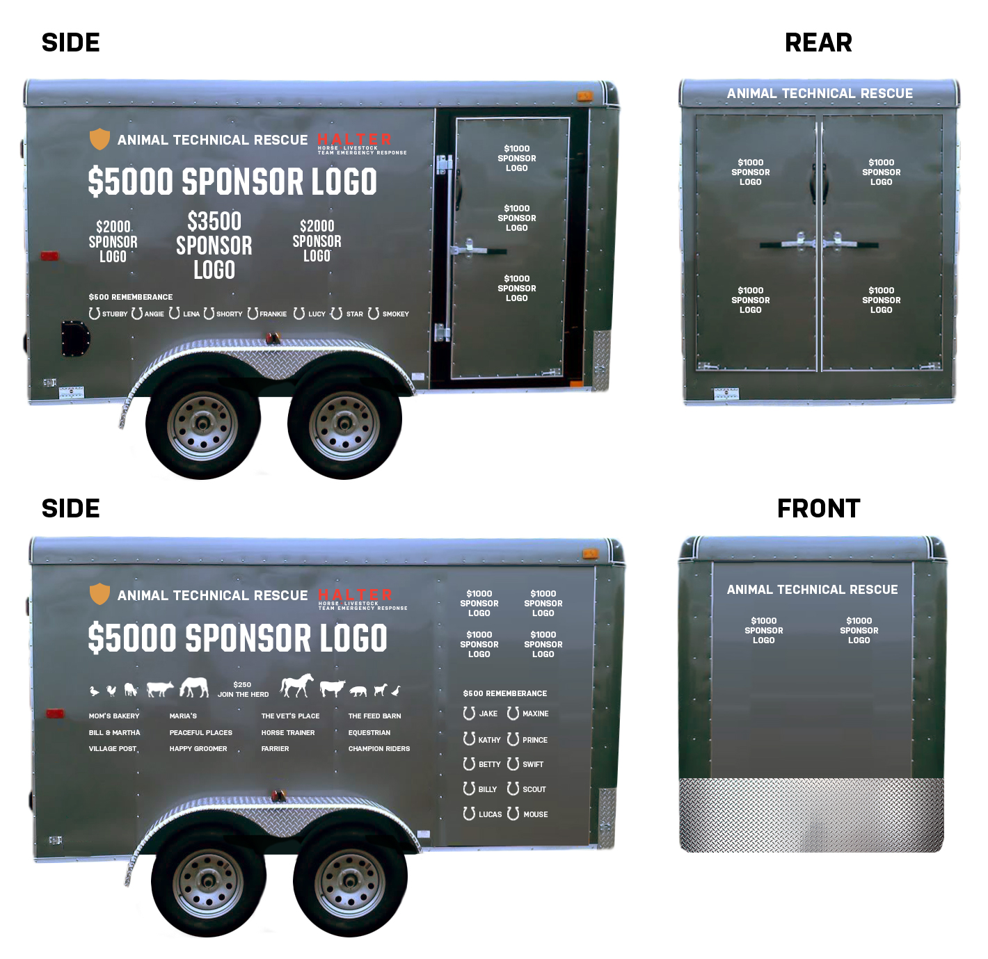 Photos Showing Sponsorship Logo Placement on Trailer Image