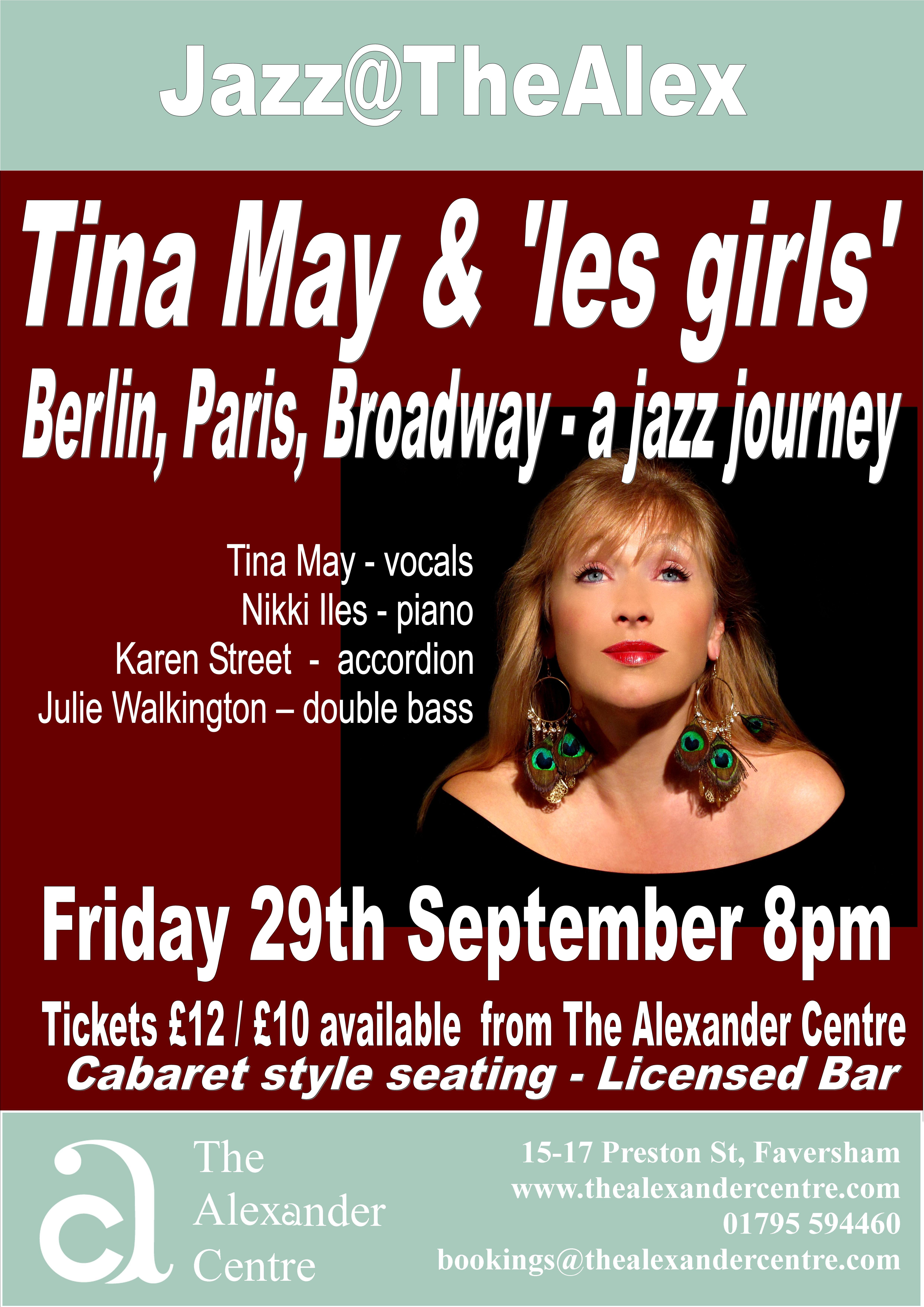 Tina May & 'les girls'  present 'Berlin, Paris, Broadway - a jazz journey'