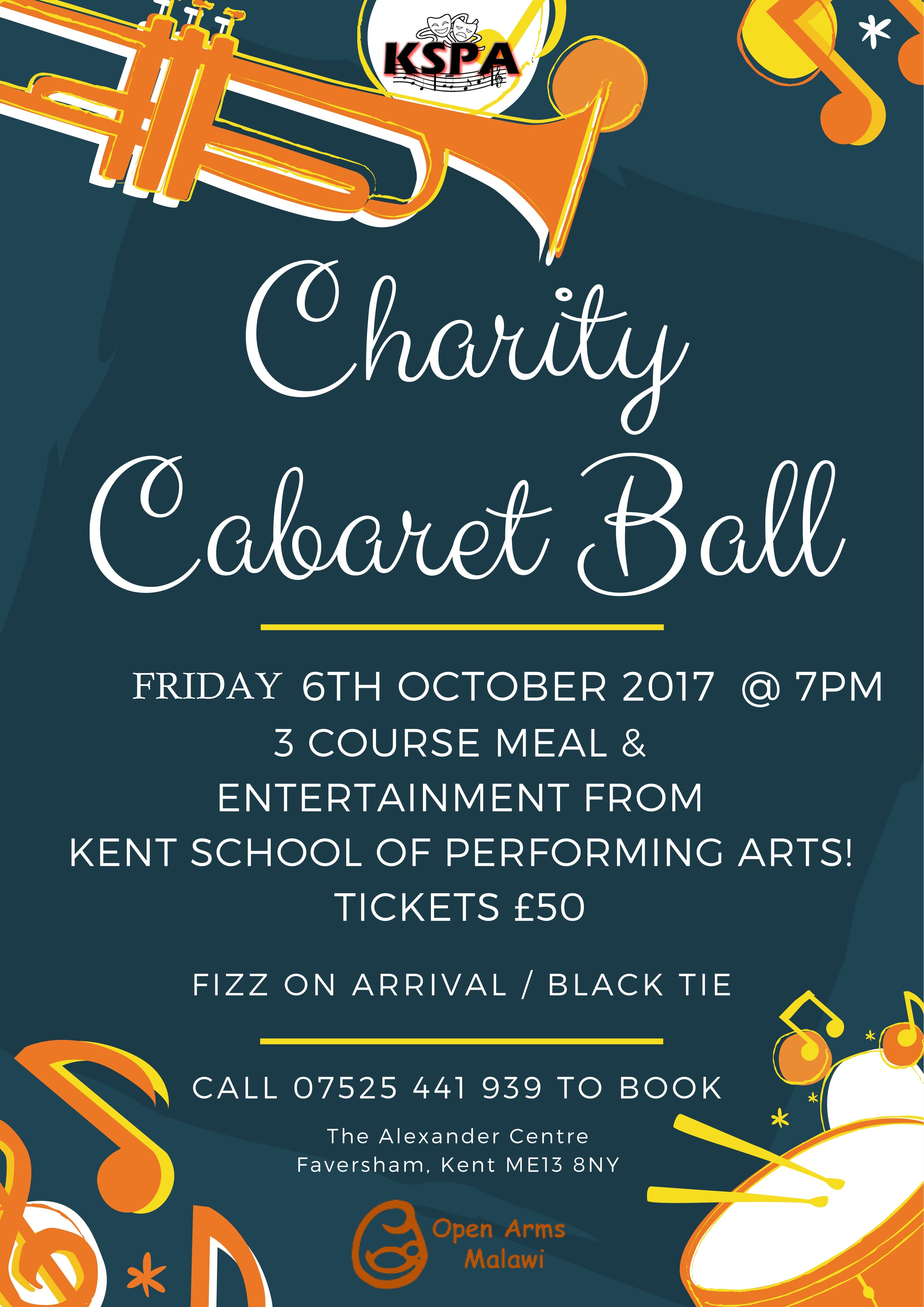 Charity Cabaret Ball in aid of Open Arms Malawi
