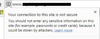 Google's new warning when websites do not have SSL installed