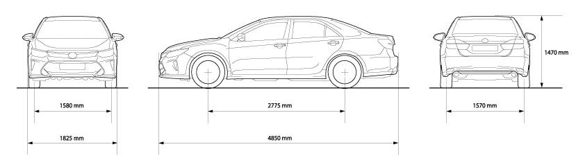 Kích thước Toyota Camry 2017