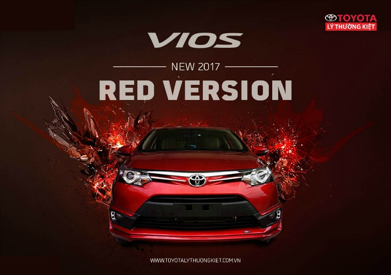 Toyota Vios 2017 red version mới