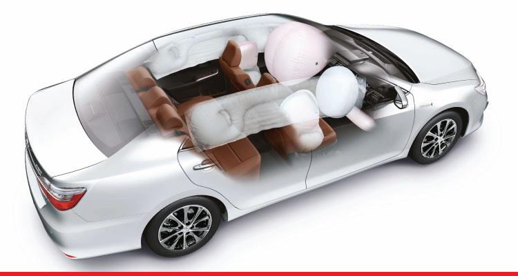 Hệ thống túi khí Toyota Camry 2017