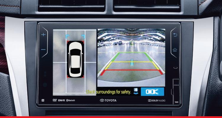 Hệ thống camera lùi Toyota Camry 2017