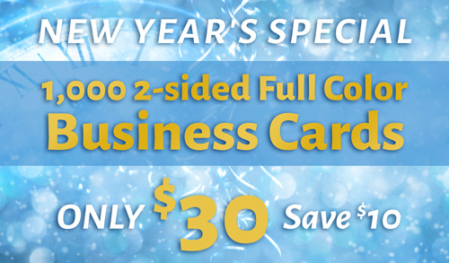 1,000 business cards for only $30