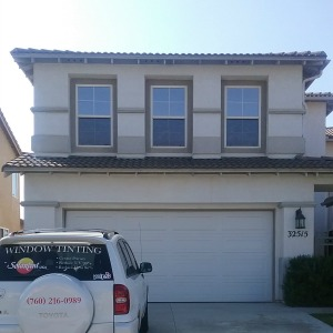 Photo of Temecula home with Madico bronze reflective tint.