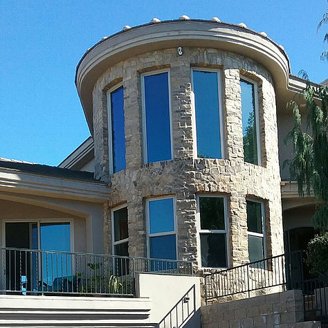 Photo of home with window tinting applied.