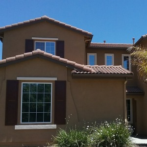Picture of a house in Winchester CA supplied with tint to reduce heat and glare.
