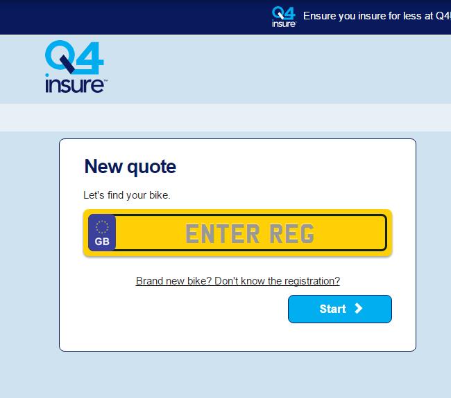 Q4 Bike Insurance Quote Form