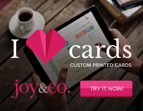 Joy&Co Castom Printing Cards