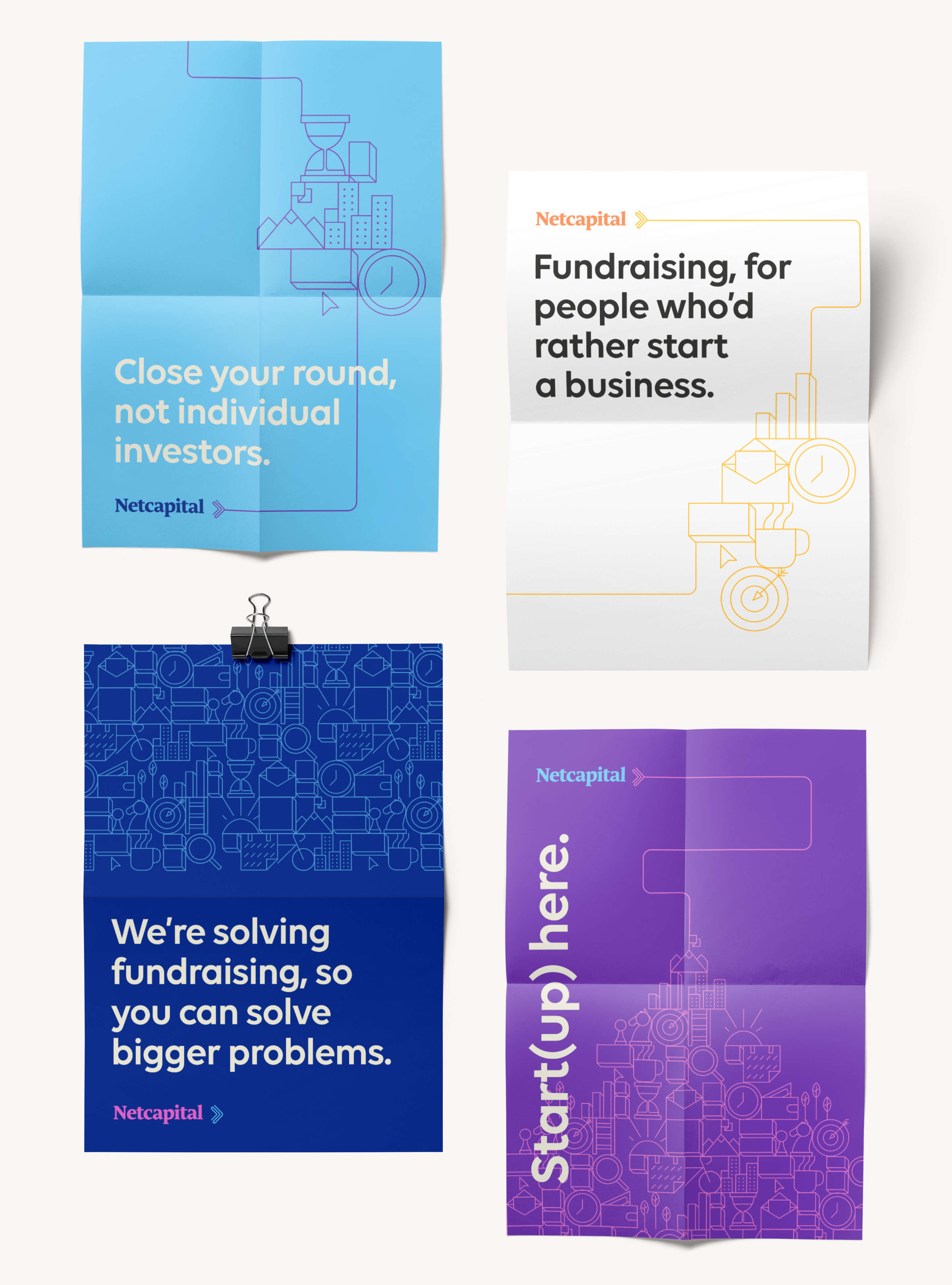 Netcapital marketing message posters
