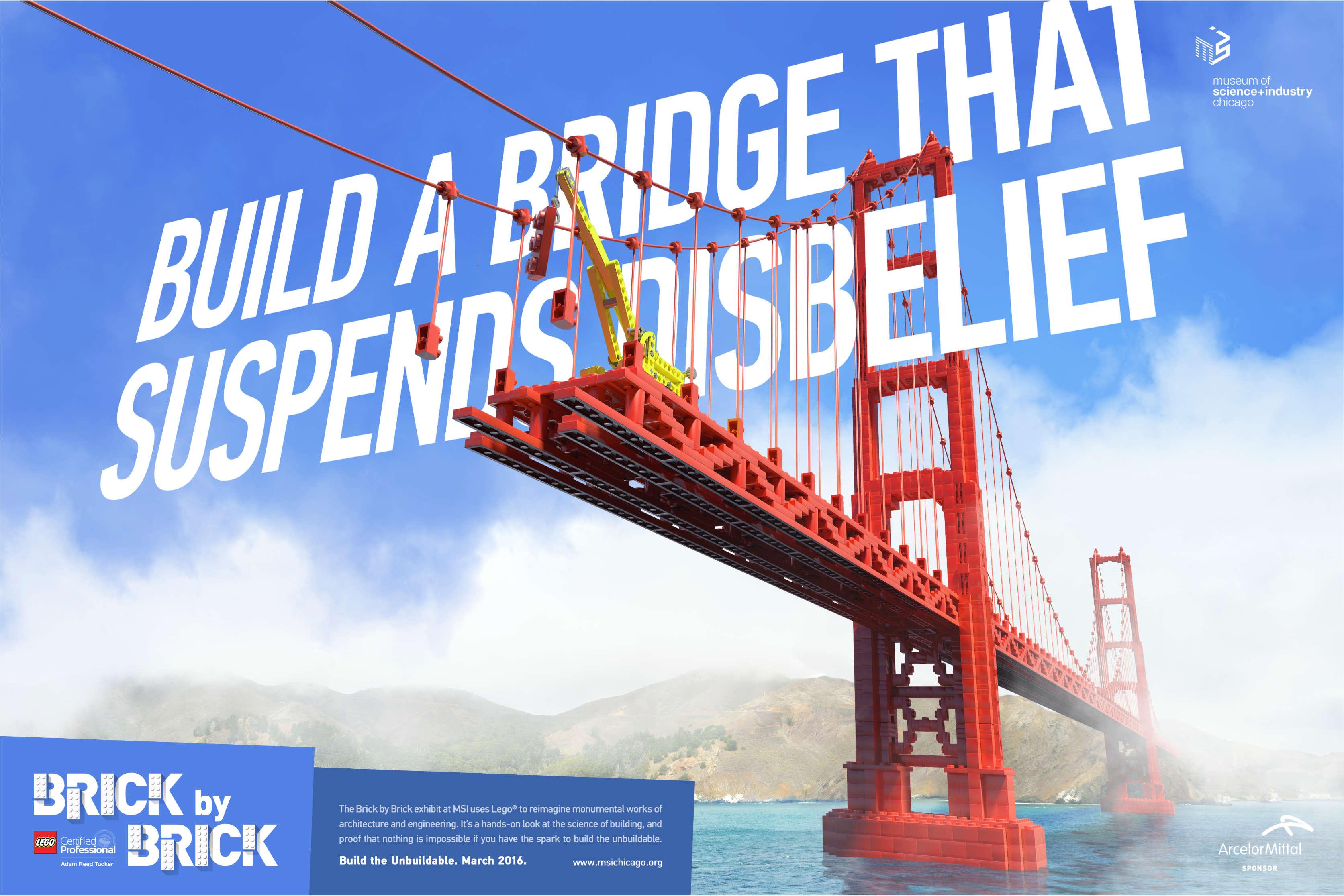 LEGO Bridge Museum Advertisement Design