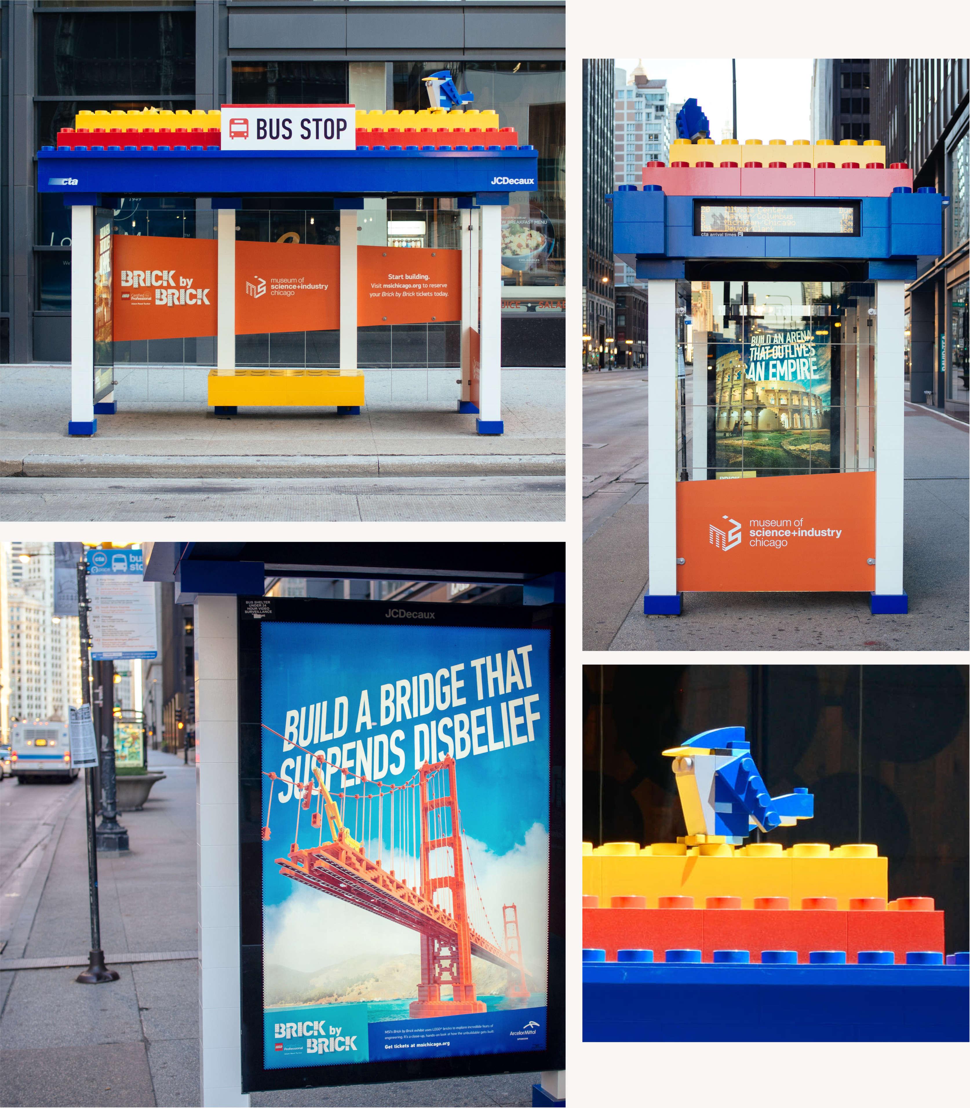 LEGO Bus Stop Ad Design