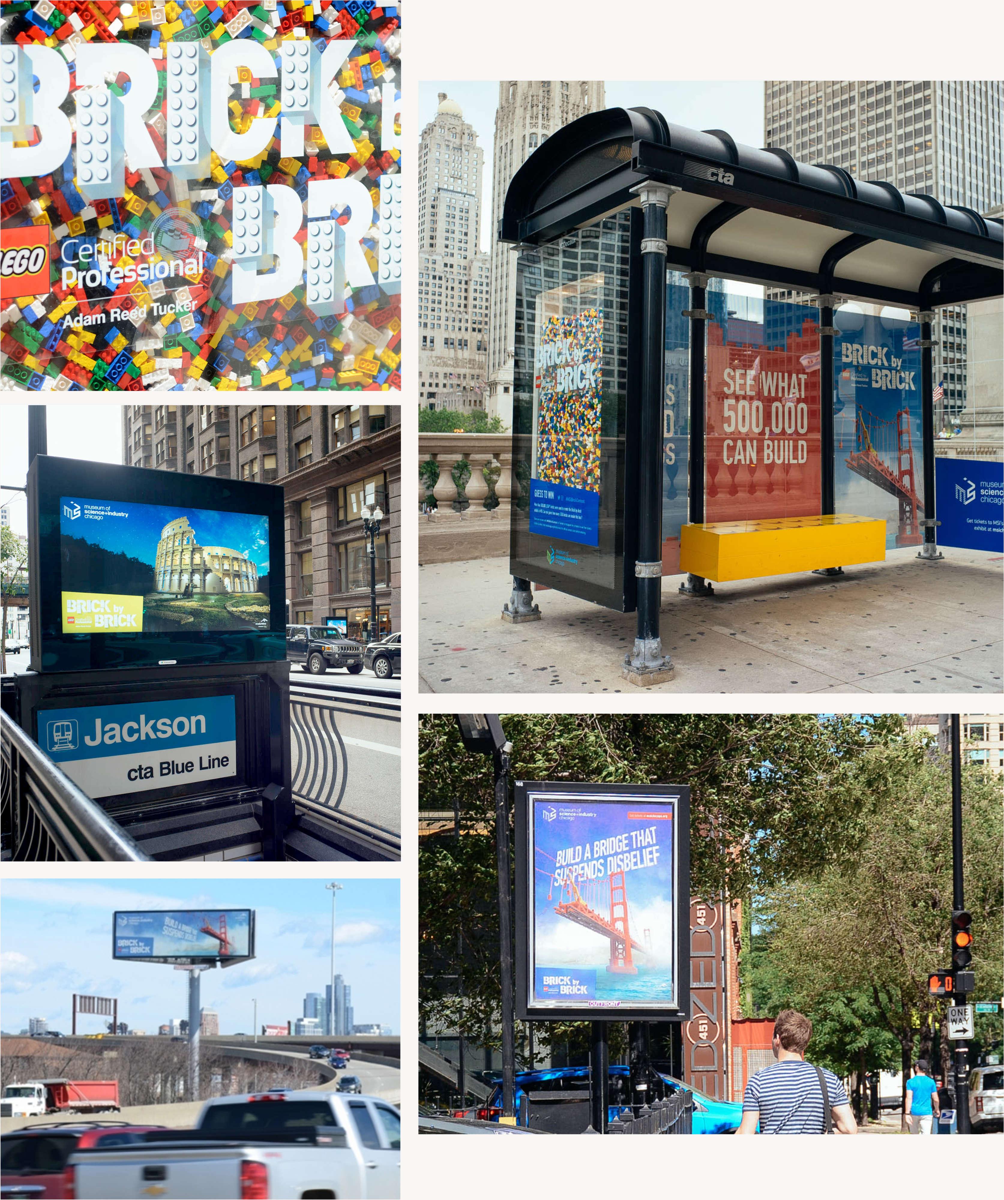 LEGO OOH Bus Stop Ads