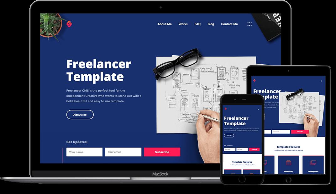 Freelancer - Designer HTML5 Responsive Website Template
