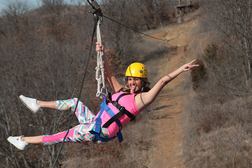 POSTOAK's zipline is a two-and-a-half-hour excursion above and through the treetops of Osage County.