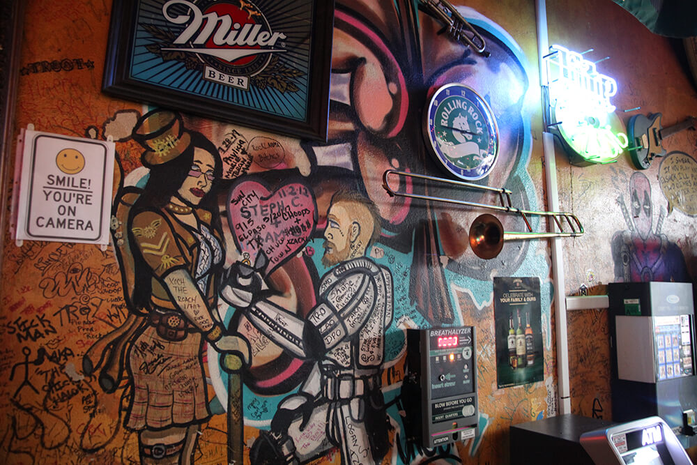The vibe at Caz's Pub falls somewhere between dive bar and eclectic man cave. (Photo: Marc Rains)