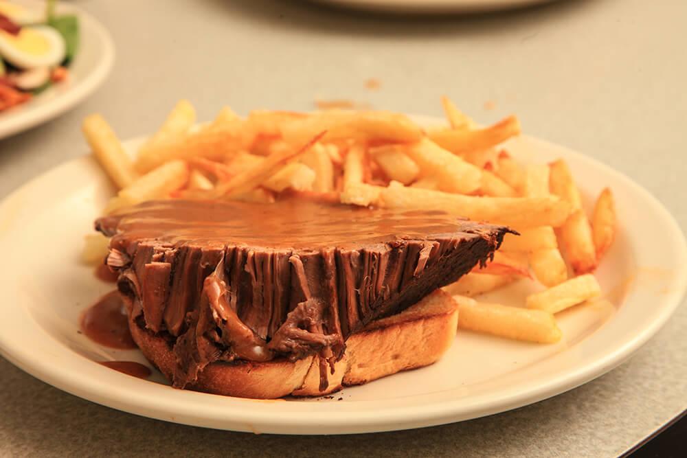 Open-faced Roast Beef Sandwich (Photo: Marc Rains)