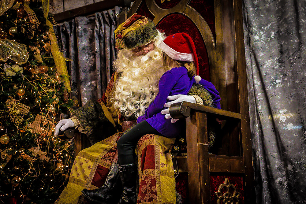 The Castle has two versions of Santa: Father Christmas and Workshop Santa.