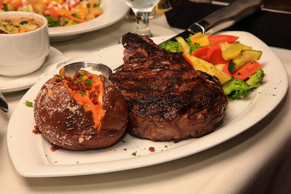 14 Ounce, 30-Day Aged Rib-eye Steak (Photo: Marc Rains)