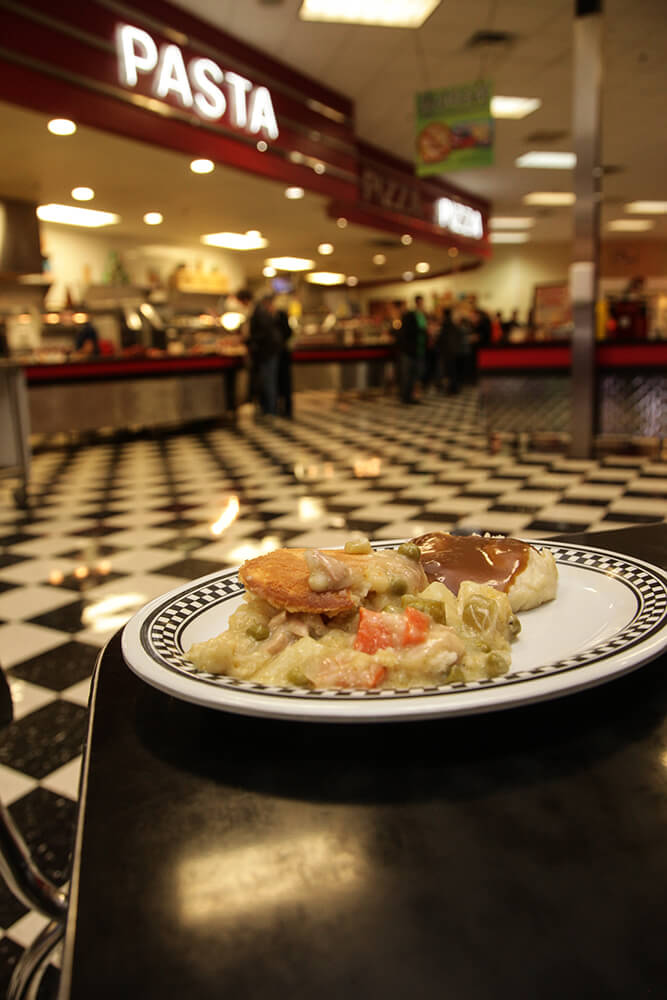 The buffet is loaded with pizza, pasta, hot dogs, meatballs, baked potatoes, homemade soups made fresh daily, chicken potpie, chicken nuggets, Frito pie and more. (Photo: Marc Rains)