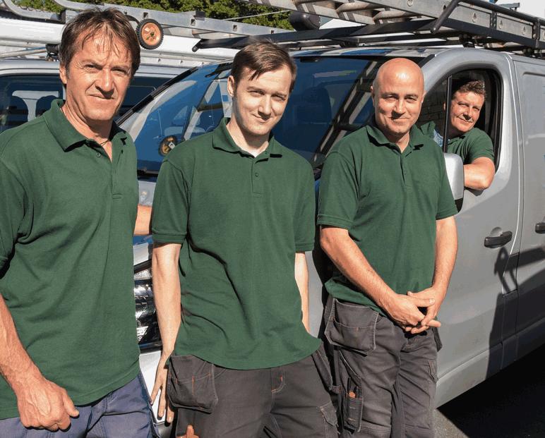 Photo of field service technicians