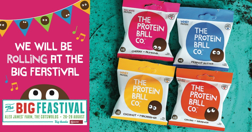 the protein ball co at big feastival