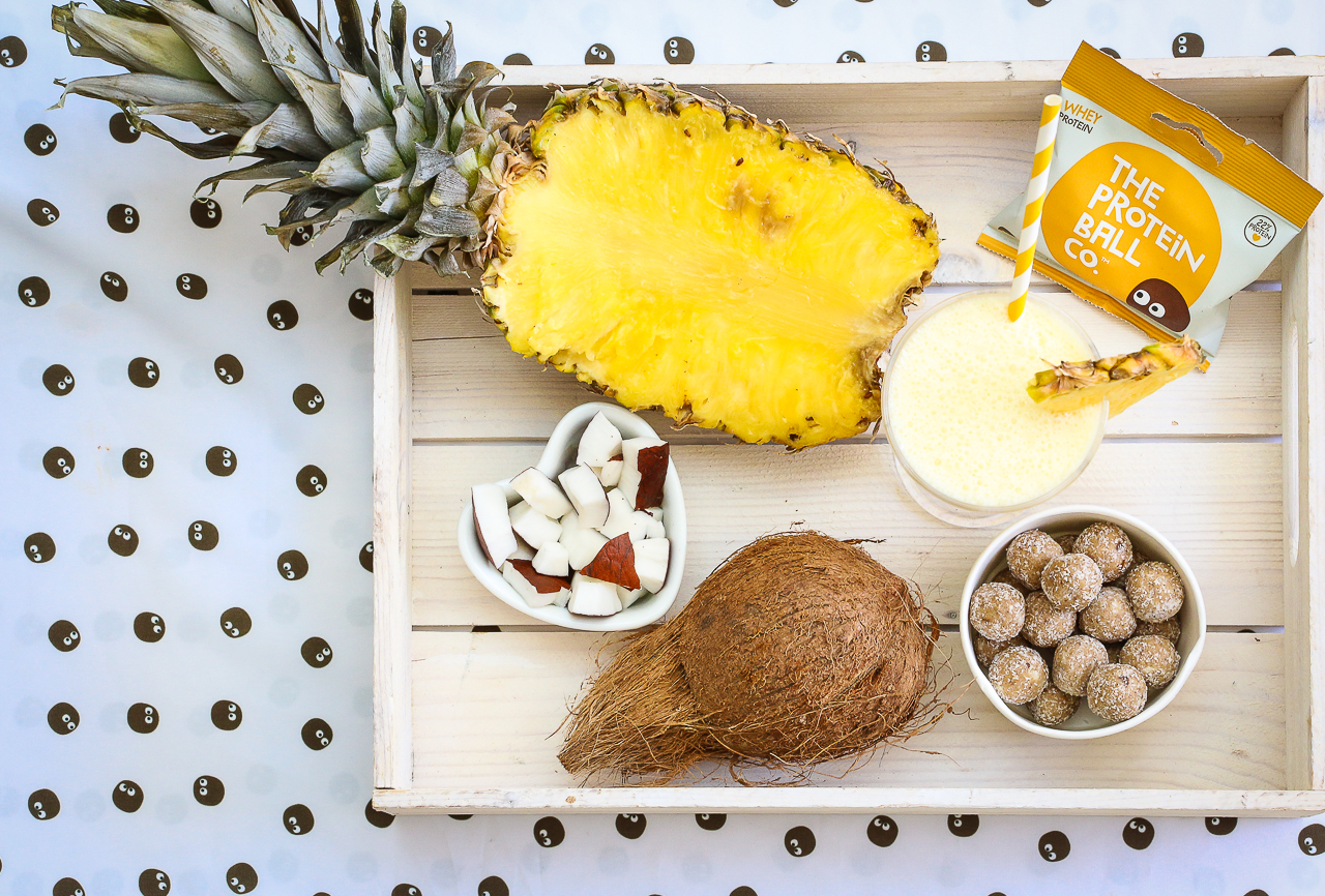 pina colada recipe from the protein ball co