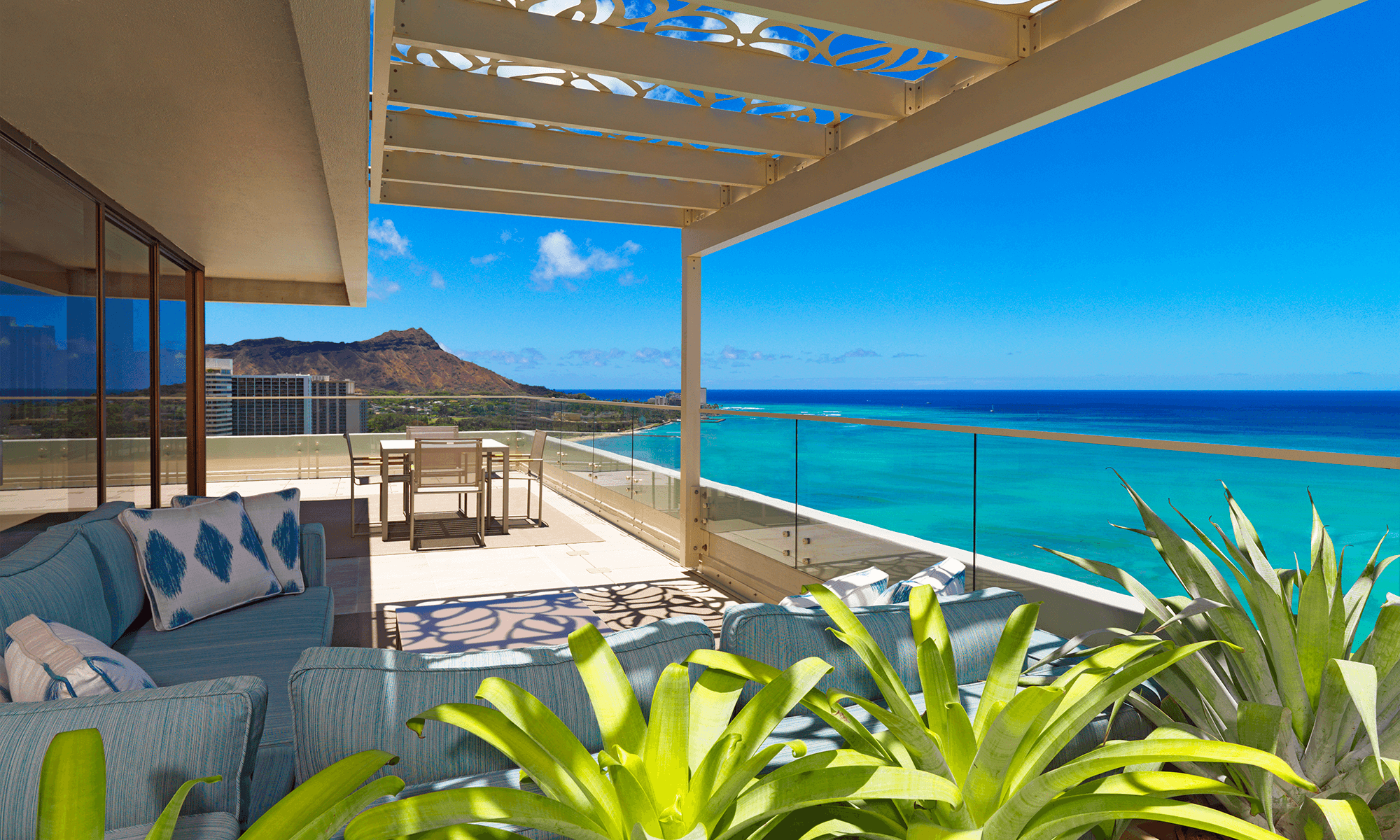 Moana Surfrider penthouse balcony Architecture, Interior Design, and layout