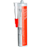 A tube of fire protection mastic for regular applicators