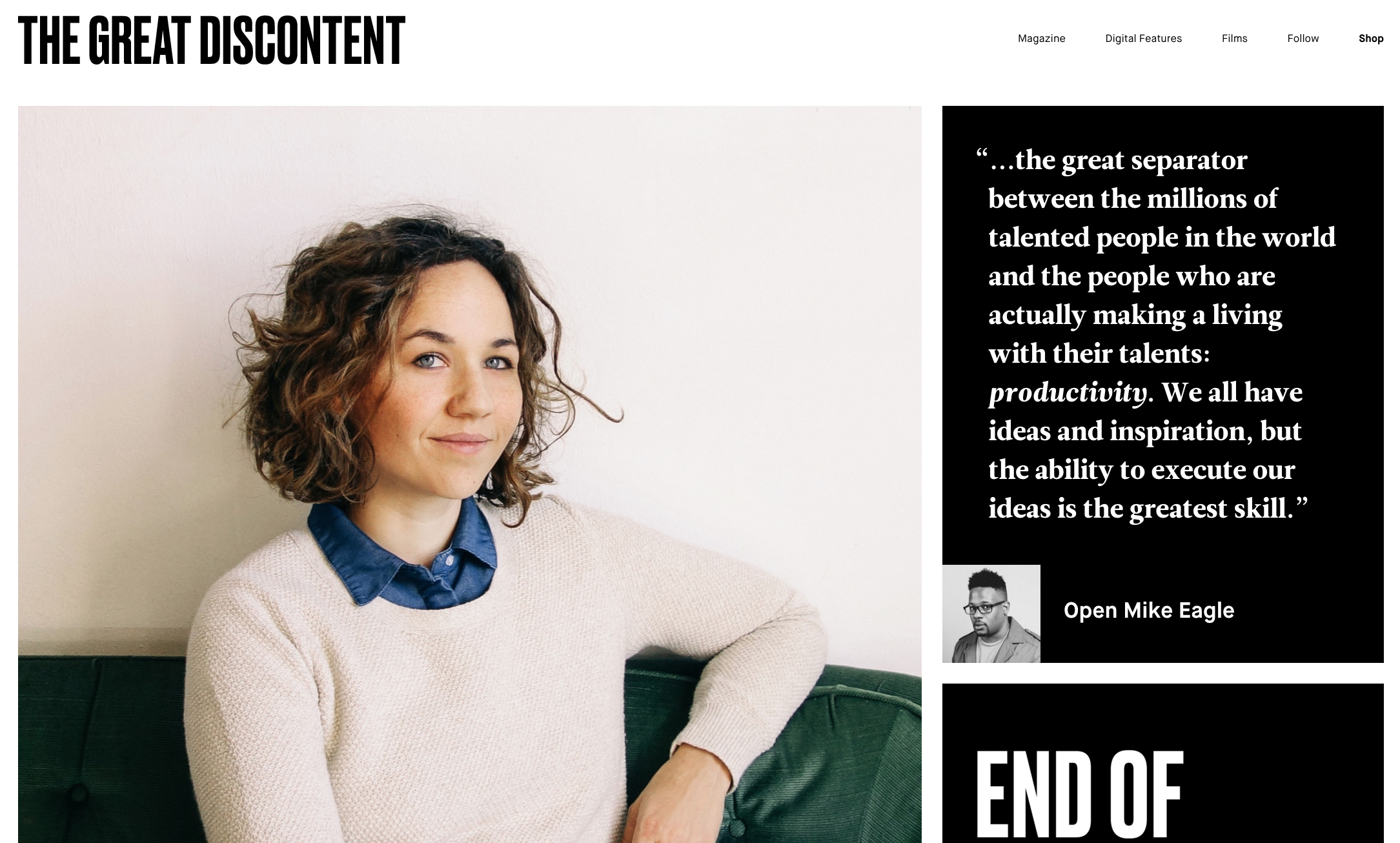 The Great Discontent's homepage