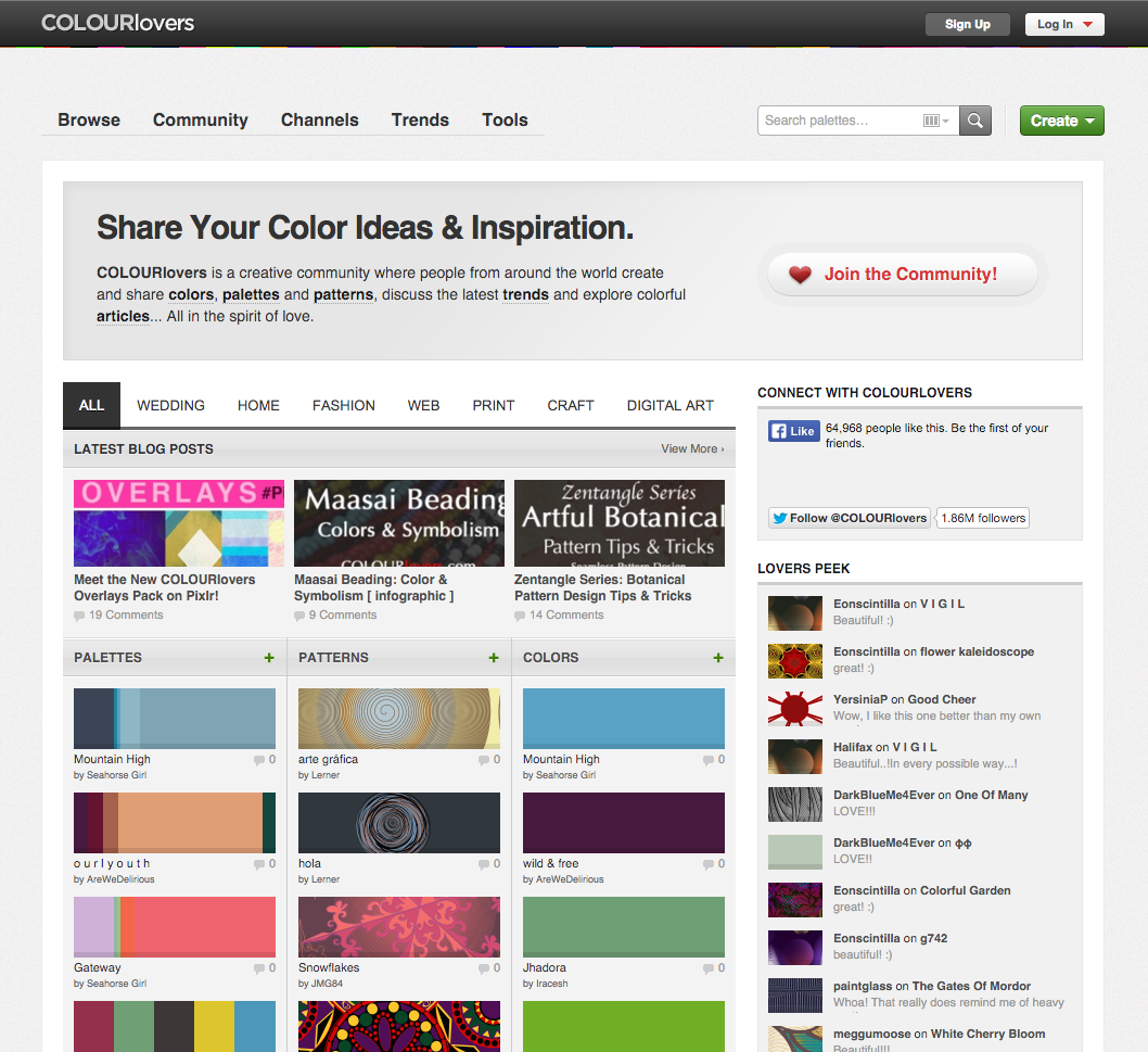 Web colors lime - Colourlovers Hosts A Community Of Color Fanatics Sharing Colors Palettes Patterns And Color Related Articles