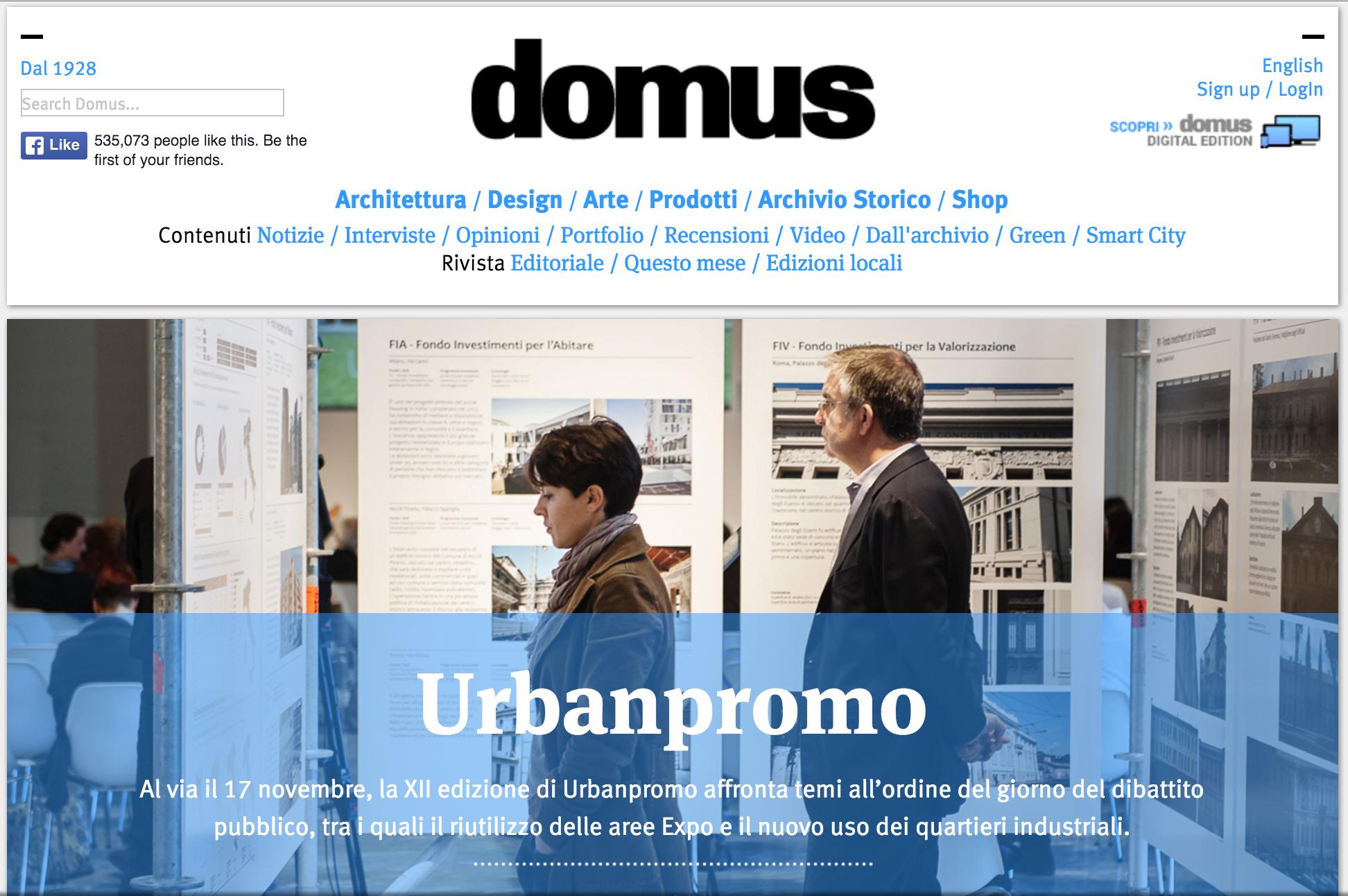 Domus' homepage