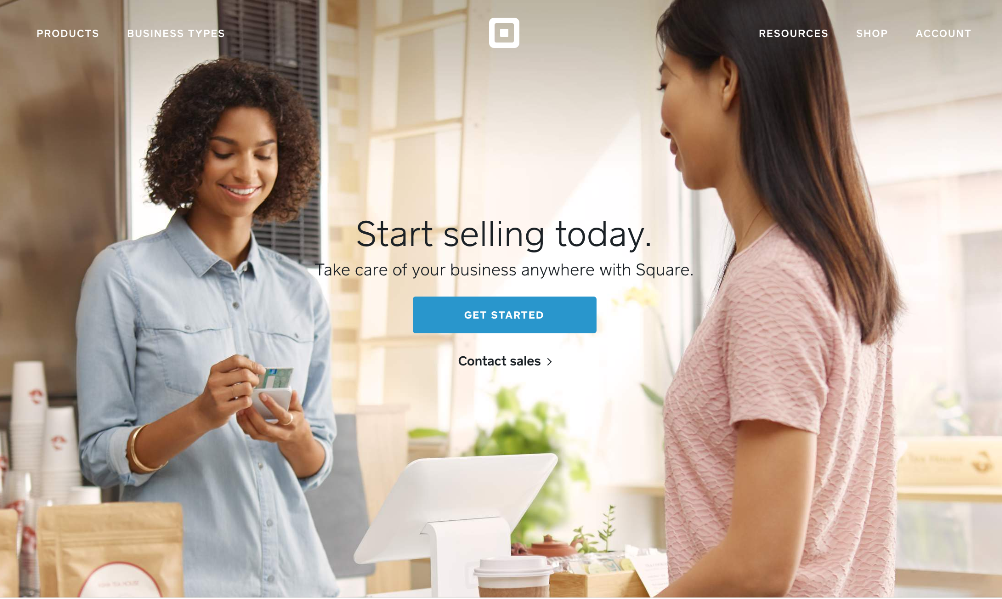Square app homepage