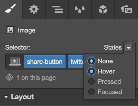 Styling your Twitter share button's hover state