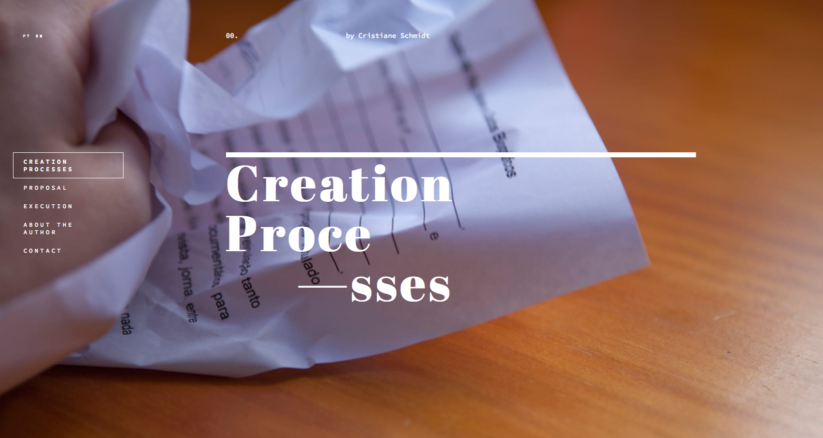 Creation Processes website