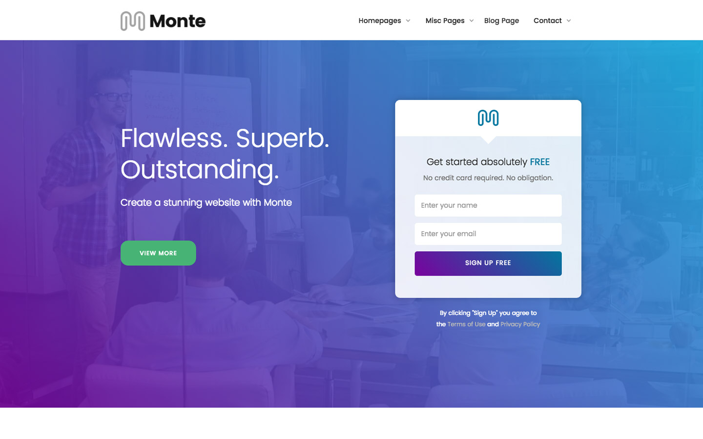 Monte business website template