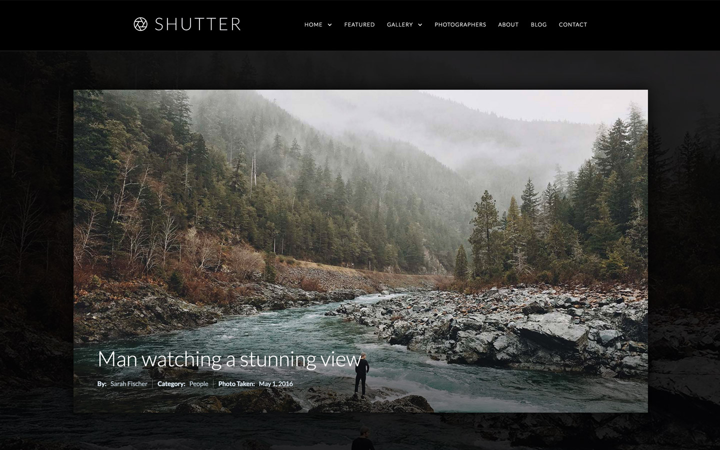 Shutter portfolio website template