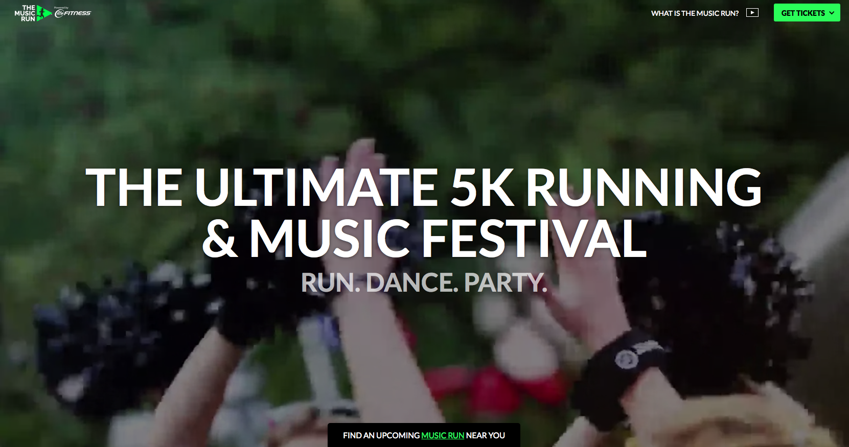 The Music Run event website