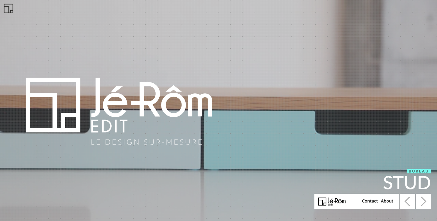 Jé-Rôm Edit furniture designer website