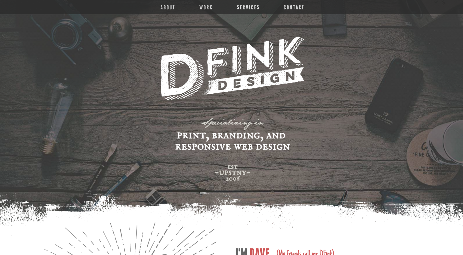 DFink Design portfolio website