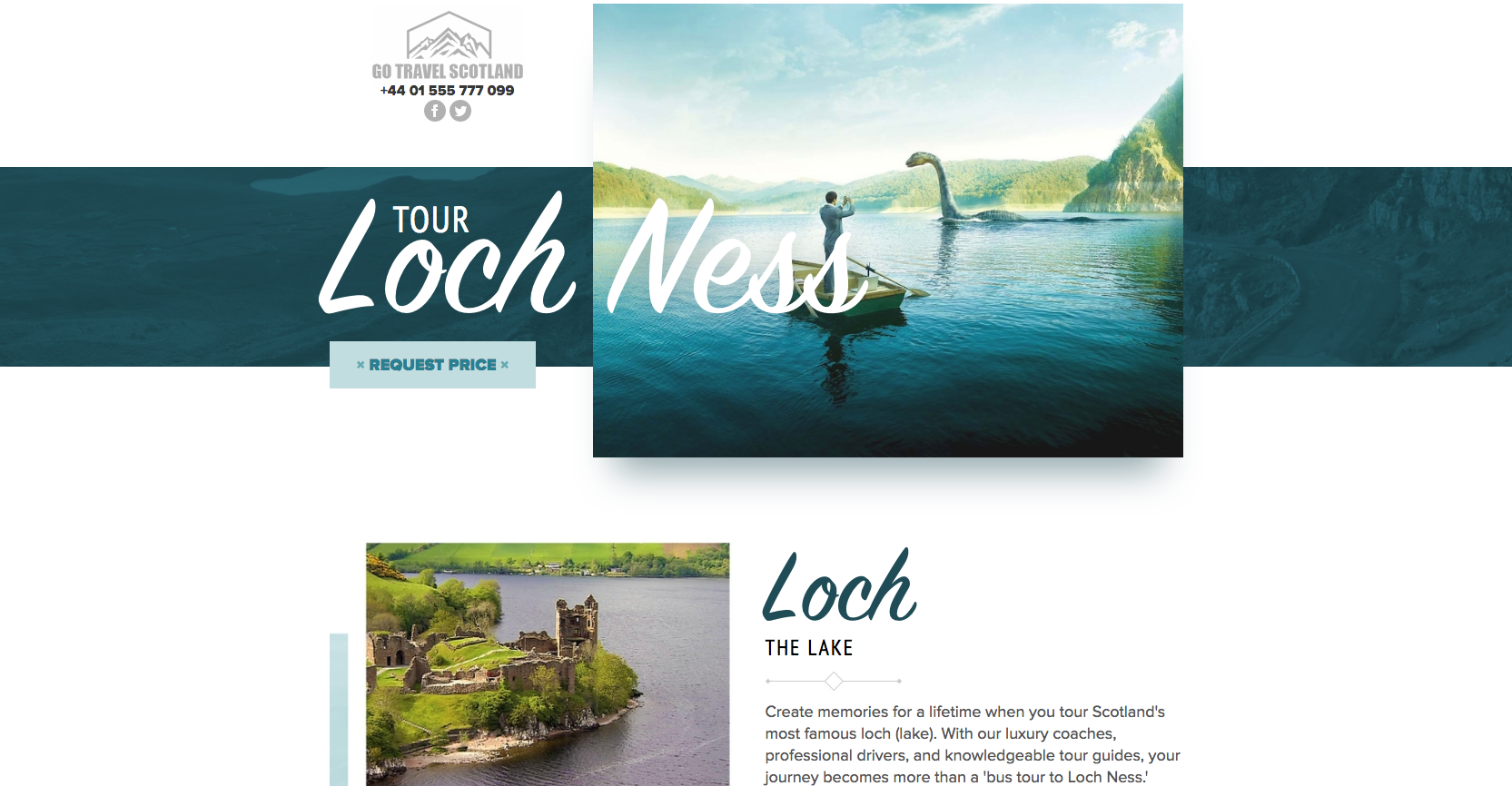 Tour Loch Ness website