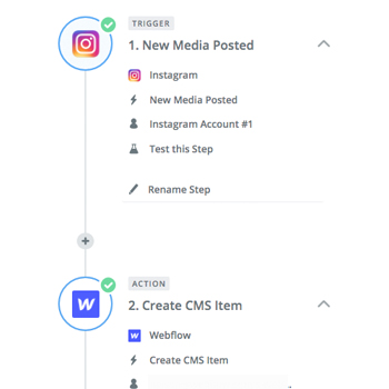 Creating CMS items with a Zapier integration